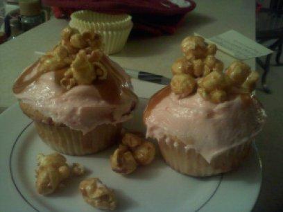 Caramel Popcorn Cupcakes